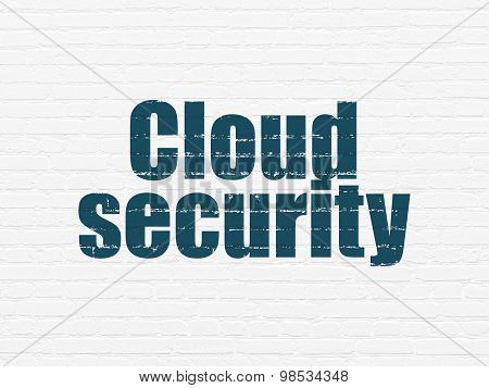 Cloud technology concept: Cloud Security on wall background