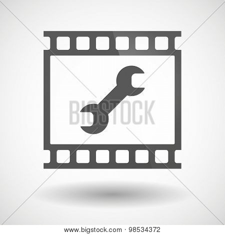 Photographic Film Icon With A Wrench