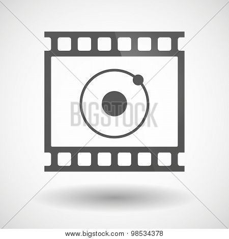 Photographic Film Icon With An Atom