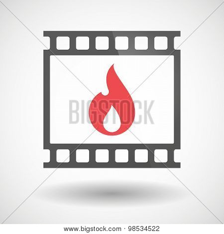 Photographic Film Icon With A Flame