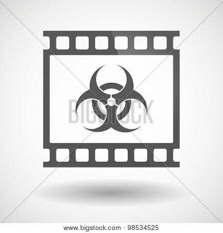Photographic Film Icon With A Biohazard Sign