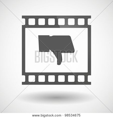 Photographic Film Icon With A Thumb Down Hand