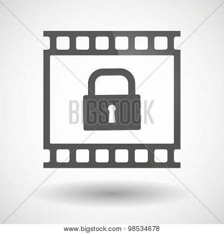 Photographic Film Icon With A Lock Pad