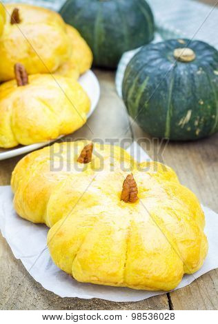 Fresh Homemade Pumpkin Buns