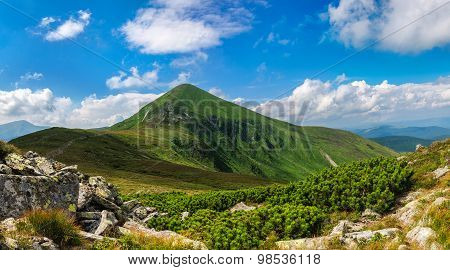 Goverla mountain in Carpathian mountains Ukraine