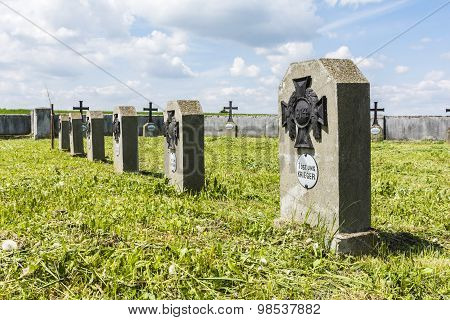 Gravestones In The Cemetery Of War Number 258