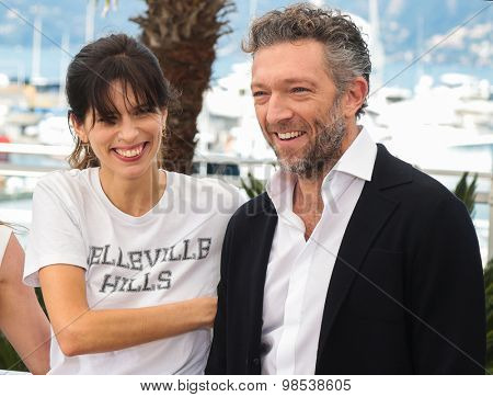 Vincent Cassel and Maiwenn Le Besco attend the 'Mon Roi' photocall during the 68th annual Cannes Film Festival on May 17, 2015 in Cannes, France.