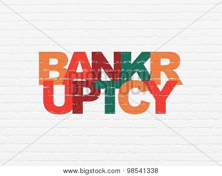Law concept: Bankruptcy on wall background