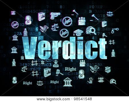 Law concept: Verdict on Digital background