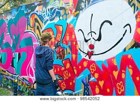 Teenager Graffiti Painter