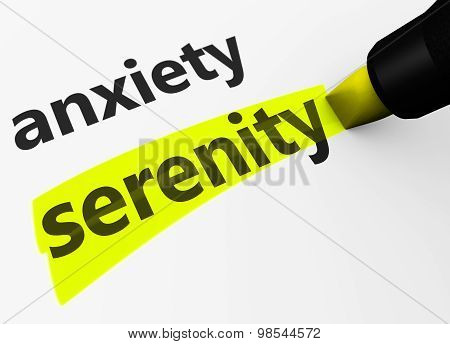 Anxiety Vs Serenity Sign