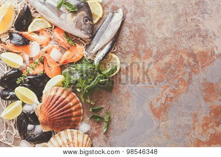Seafood assortment