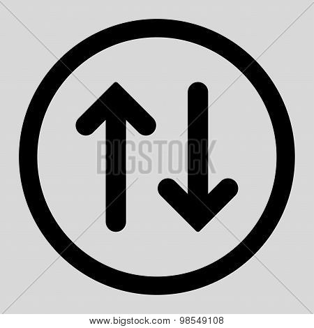 Flip flat black color rounded vector icon