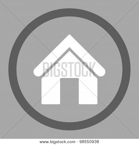 Home flat dark gray and white colors rounded vector icon