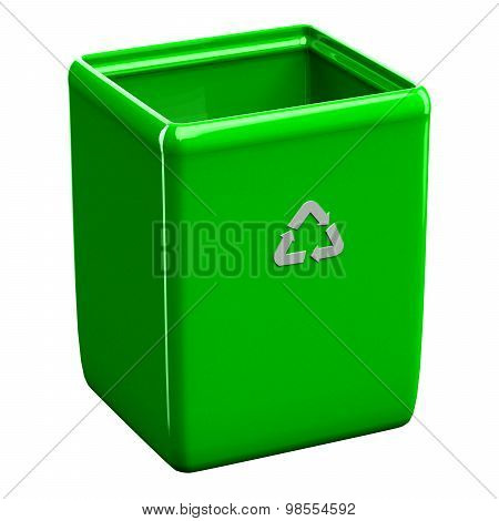Recycling Bin Isolated On White Background