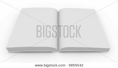 3D Blank Book