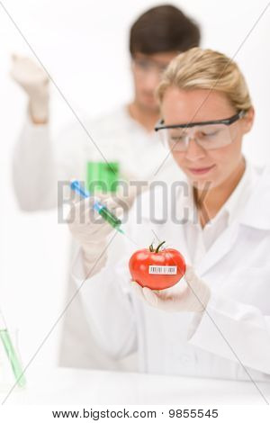 Genetic Engineering - Scientists In Laboratory