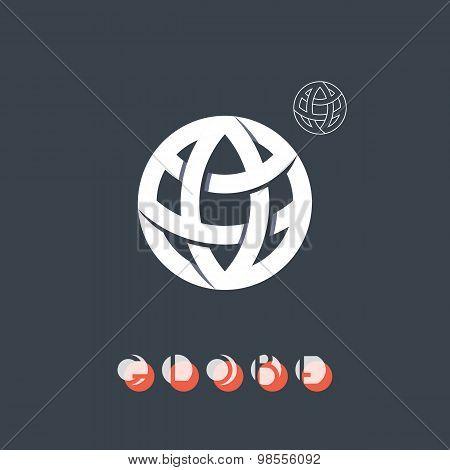 Brand Identity Symbol, Globe Icon.