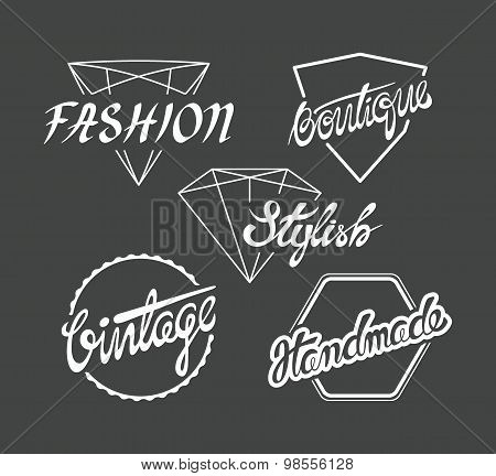 Set Of Fashion Industry Labels