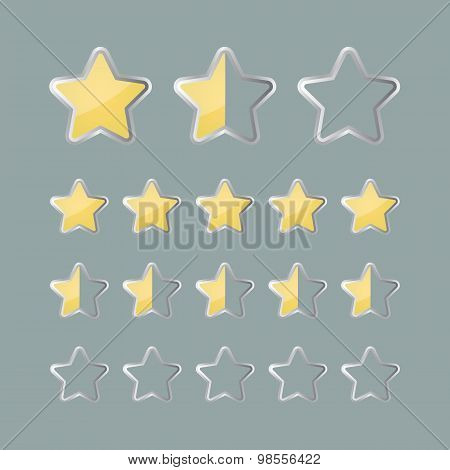 Rating Stars Status Icons