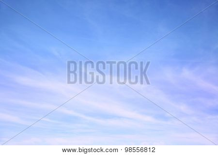 Blue sky with cirrus clouds -  may be used as background
