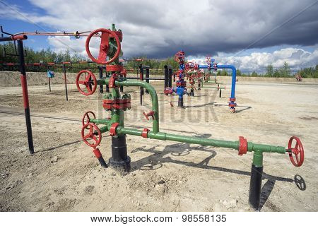 Injection and production wells.