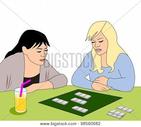 Girls with Board Game