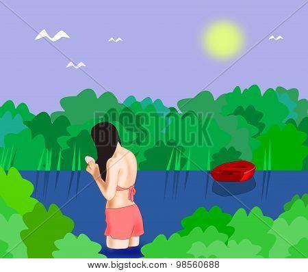 Bathing Girl