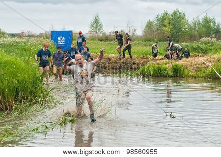 Cross-country race on water. Tyumen. Russia