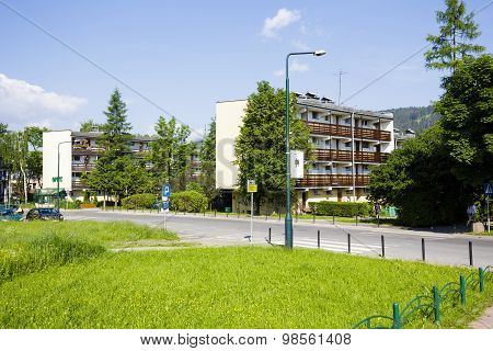 Housing Estate At Zborowski Str In Zakopane