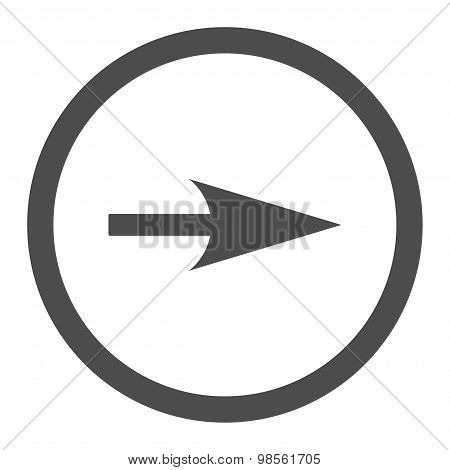 Arrow Axis X flat gray color rounded raster icon