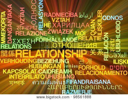 Background concept wordcloud multilanguage international many language illustration of relationship glowing light