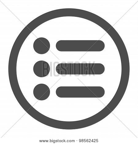 Items flat gray color rounded raster icon