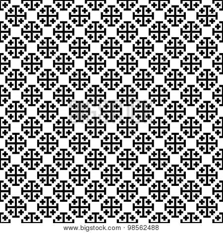 Monochrome Cross Seamless Pattern