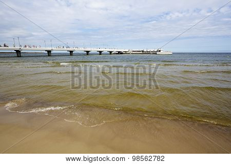 The Pier Built On The Waters Of The Baltic Sea