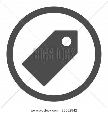 Tag flat gray color rounded raster icon