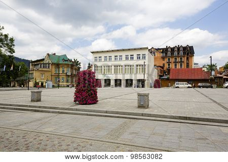 View Over The Independence Square In Zakopane