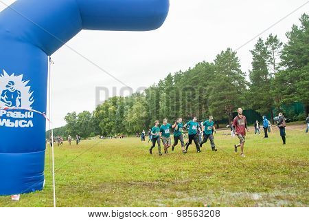 One of teams finishes in cross-country race.Tyumen