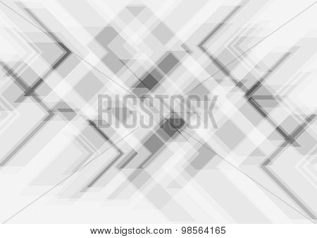Grey tech abstract modern background. Vector design