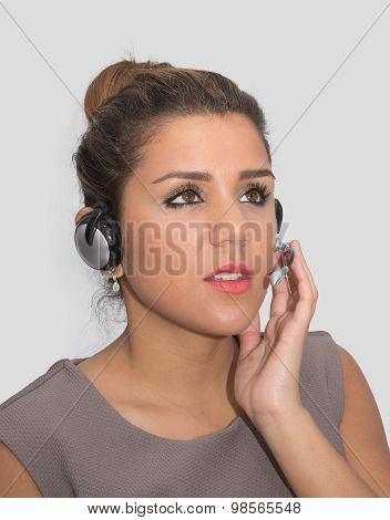 Attentive customer service representative