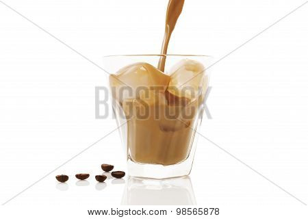 Ice Coffee Isolated.