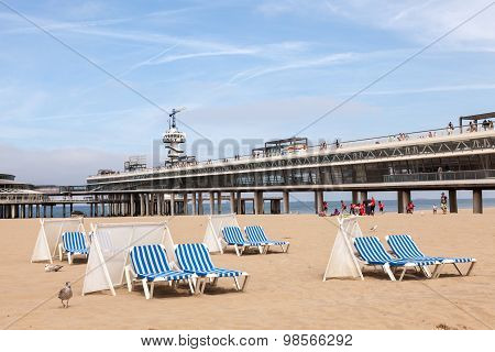 Beach In Scheveningen, Holland