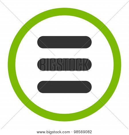 Stack flat eco green and gray colors rounded vector icon