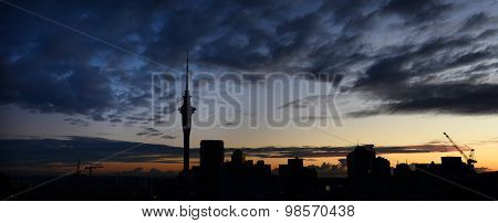 Panoramic View Of Auckland Skyline