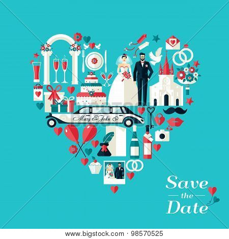 Wedding Card Invitation.
