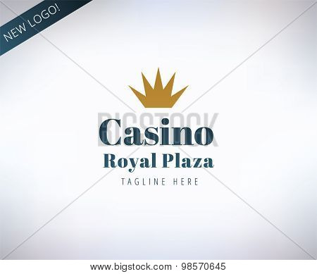 Casino logo icon. Poker, cards or game and money symbol. Stocks design element.