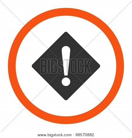 Error flat orange and gray colors rounded vector icon