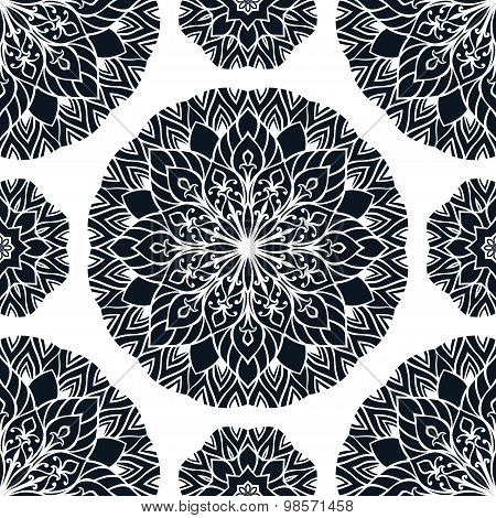 Pattern With Stylized Snowflakes