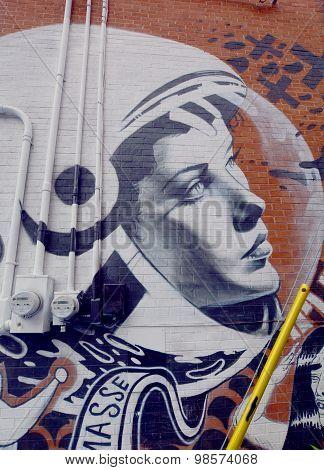 Street art astromaut