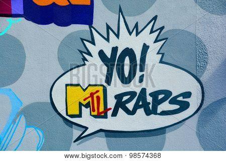 Street art Yo Raps